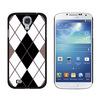 Argyle Hipster Black White - Preppy Galaxy S4 Case