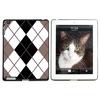 Argyle Hipster Black White - Preppy Apple iPad Case