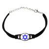 Star of David Novelty Suede Leather Metal Bracelet