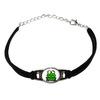 Frog Toad Novelty Suede Leather Metal Bracelet