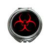 Biohazard Warning Symbol Compact Mirror
