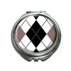 Argyle Hipster Black White Compact Mirror