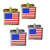 American USA Flag - Patriotic Square Cufflinks