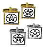 Pentagram - Pentangle Star Wiccan Witch Square Cufflinks