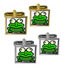 Frog Toad Square Cufflinks