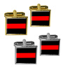Thin Red Line Firefighters Square Cufflinks