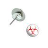 Biohazard Pierced Stud Earrings