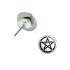 Pentagram Pierced Stud Earrings