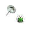 Frog Toad Pierced Stud Earrings