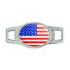 American USA Flag Oval Slide Shoe Charm