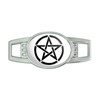Pentagram Oval Slide Shoe Charm