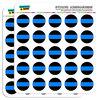 "Thin Blue Line 1"" Planner Calendar Scrapbooking Crafting Stickers"