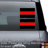 Thin Red Line Sheet Of 2 Stickers