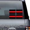 Thin Red Line Sheet Of 4 Stickers