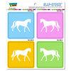 Horse SLAP-STICKZ(TM) Premium Sticker