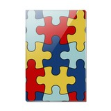 Autism Awareness Diversity Puzzle Pieces Rectangle Acrylic Fridge Refrigerator Magnet