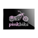 Pink Bike Motorcycle Chopper Logo Rectangle Acrylic Fridge Refrigerator Magnet