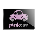 Pink Car Logo Rectangle Acrylic Fridge Refrigerator Magnet