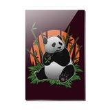 Giant Panda Bear Eating Bamboo Rectangle Acrylic Fridge Refrigerator Magnet