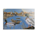 Ducks in the Lake and in Flight Rectangle Acrylic Fridge Refrigerator Magnet
