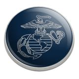Marine Corps USMC Gray on Blue Eagle Globe Anchor Logo Officially Licensed Golfing Premium Metal Golf Ball Marker