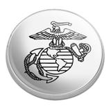 Marine Corps USMC Black White Eagle Globe Anchor Logo Officially Licensed Golfing Premium Metal Golf Ball Marker