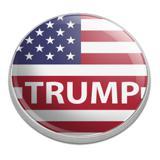 President Trump American Flag Golfing Premium Metal Golf Ball Marker