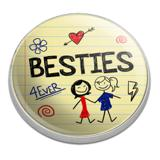 Besties Best Friends Golfing Premium Metal Golf Ball Marker