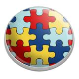 Autism Awareness Diversity Puzzle Pieces Golfing Premium Metal Golf Ball Marker