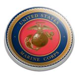 Marine Corps USMC Emblem Officially Licensed Golfing Premium Metal Golf Ball Marker