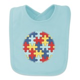 Autism Awareness Diversity Puzzle Pieces Baby Bib