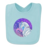 Majestic Unicorn Pink Purple Blue Baby Bib