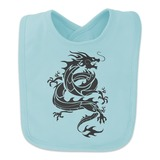 Tribal Dragon Asian Baby Bib