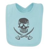 Pirate Skull Crossed Swords Tattoo Design Baby Bib