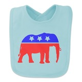 Republican Elephant GOP Conservative America Political Party Baby Bib