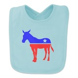 Democrat Donkey Liberal America Political Party Baby Bib