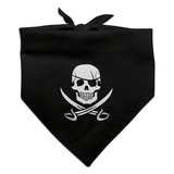 Pirate Skull Crossed Swords Jolly Roger Dog Pet Bandana