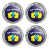 Peeps Chick Magnet with Bunny Officially Licensed Metal Craft Sewing Novelty Buttons - Set of 4