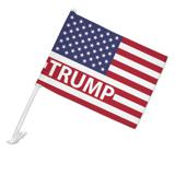 President Trump American Flag Car Truck Flag with Window Clip On Pole Holder