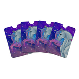 Majestic Unicorn Pink Purple Blue Credit Card RFID Blocker Holder Protector Wallet Purse Sleeves Set of 4
