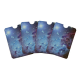 Fox Fur Nebula Monoceros Constellation Galaxy Credit Card RFID Blocker Holder Protector Wallet Purse Sleeves Set of 4