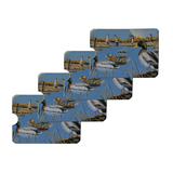 Ducks in the Lake and in Flight Credit Card RFID Blocker Holder Protector Wallet Purse Sleeves Set of 4