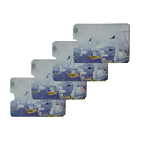 Swan Family on the Lake Credit Card RFID Blocker Holder Protector Wallet Purse Sleeves Set of 4
