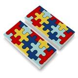 Autism Awareness Diversity Puzzle Pieces Eraser Set of 2