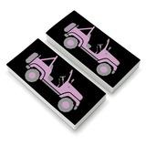 Pink 4x4 Truck Off-Road Eraser Set of 2