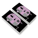 Pink Camper Trailer Camping Eraser Set of 2