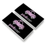 Pink Car Logo Eraser Set of 2