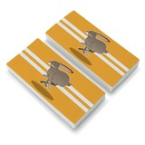 Jackrabbit Running Racing Eraser Set of 2