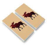 Moose Red Forest Eraser Set of 2