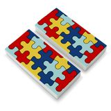Autism Awareness Diversity Puzzle Pieces Eraser Set of 2